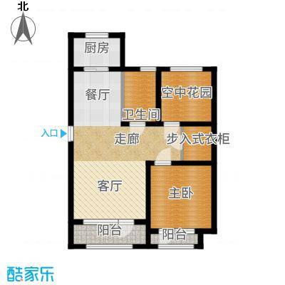 正源吉祥e家祥福园89.09㎡O户型2室2厅