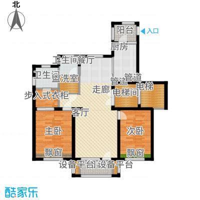 红星海世界观110.00㎡【海麓】17#地小高层110m2户型2室2厅