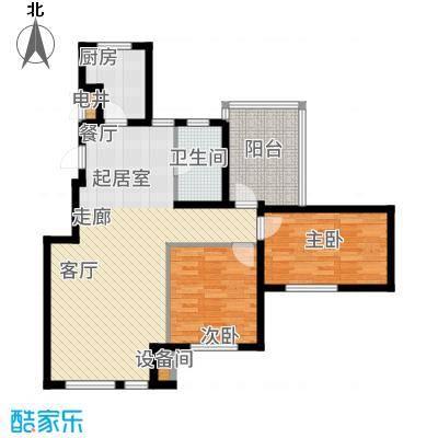 金地艺境89.00㎡三期7层洋房七层户型3室2厅