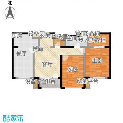 红星海世界观110.00㎡【青屿蓝】110m2户型2室2厅