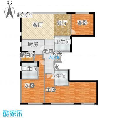 佳兆业中心194.00㎡E三位户型2室2厅