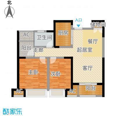 华地润园89.00㎡户型