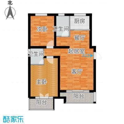 玫瑰湾5#户型2室2厅