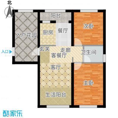 辰能溪树河谷高层户型2室2厅
