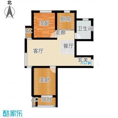 想象国际88.53㎡C户型2室2厅