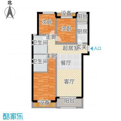 广厦财富中心122.00㎡C2户型3室2厅