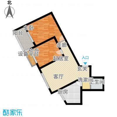 华普城81.64㎡1区5#楼S户型2室2厅
