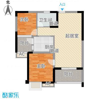 无锡碧桂园88.00㎡户型2室2厅