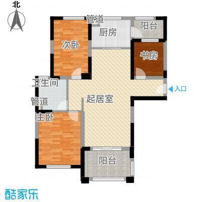 无锡碧桂园120.00㎡c户型3室2厅