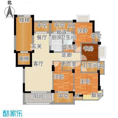 紫东名府136.00㎡户型4室2厅