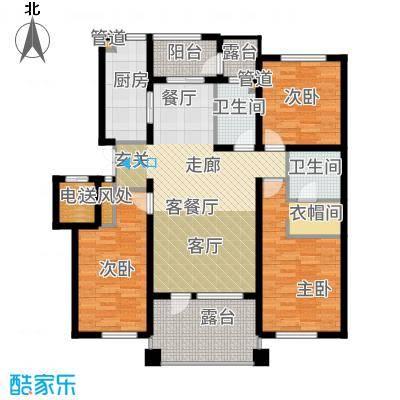 辰能溪树河谷A(3楼)户型3室2厅