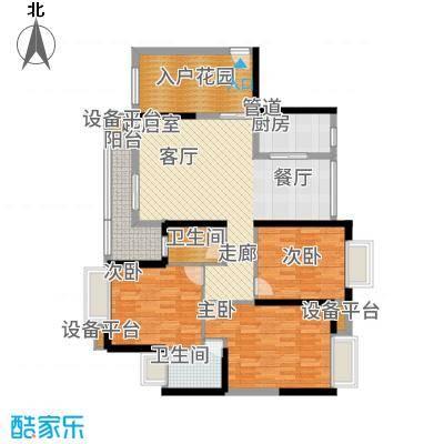 锦龙又一城121.66㎡7-8栋B户型3室2厅