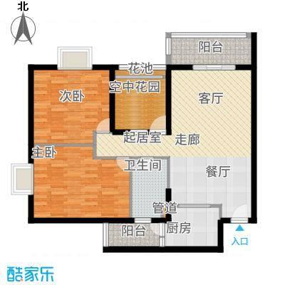 锦龙又一城86.27㎡A5户型3室2厅