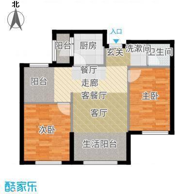 辰能溪树河谷高层户型2室1厅