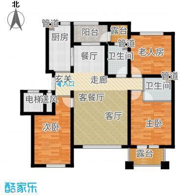 辰能溪树河谷A(4楼)户型3室2厅