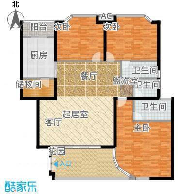 御水南岸168.00㎡户型3室2厅