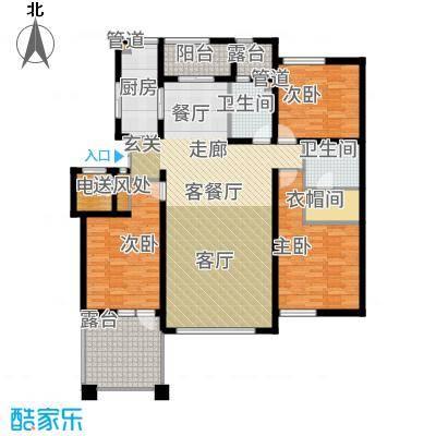 辰能溪树河谷A(2楼)户型3室2厅