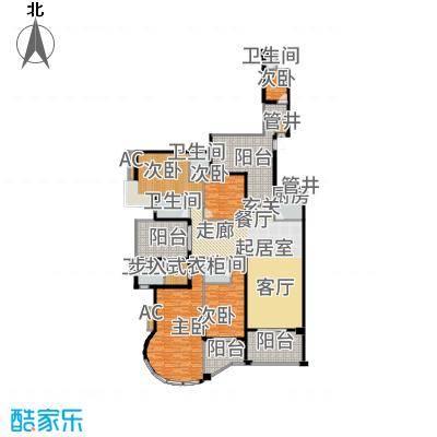 天骄峰景250.00㎡12#01户型4室3厅