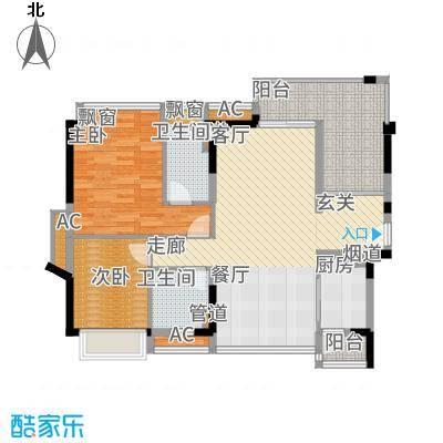 金达锦绣东方101.61㎡2栋01/02户型2室2厅