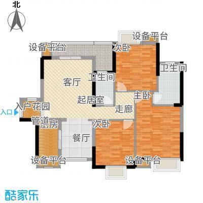 锦龙又一城110.89㎡5-6栋D户型3室2厅