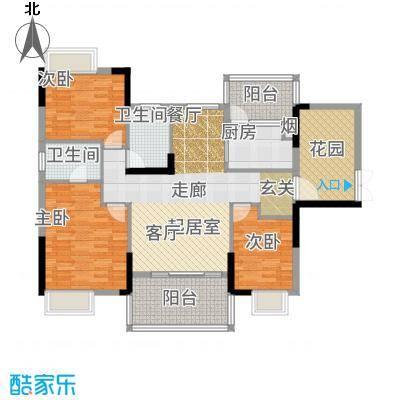 富盈WO城121.00㎡7栋1单元0户型3室2厅