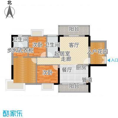 富盈公馆115.00㎡15栋01单元E5三室户型3室2厅