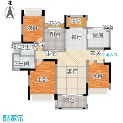 华发蔚蓝堡133.00㎡户型3室2厅