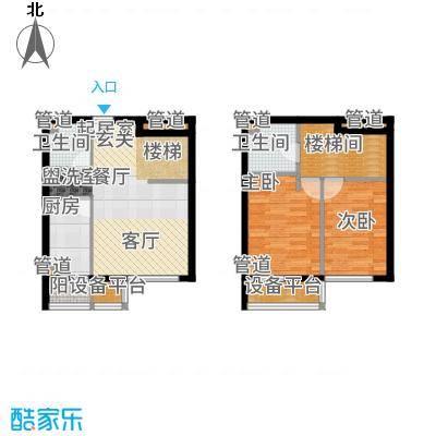 长阳光和作用82.40㎡A2户型2室2厅