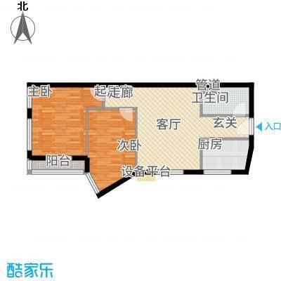 中贸广场67.00㎡户型2室1厅