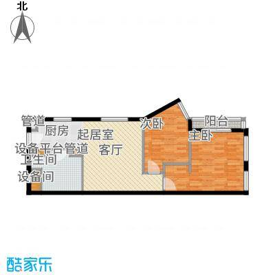 中贸广场71.00㎡15号楼16/19户型2室1厅