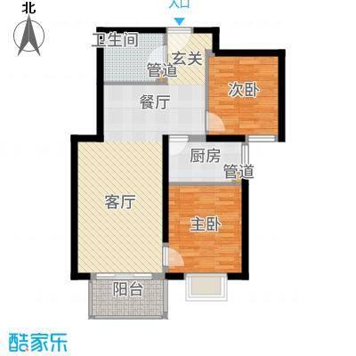 """首创漫香郡三期""""涧桥大道""""19号楼B1户型2室2厅"""