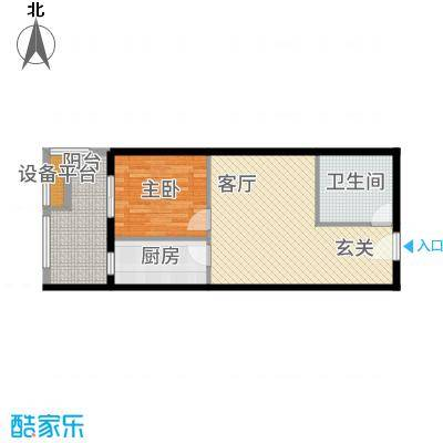 中贸广场66.00㎡户型1室1厅