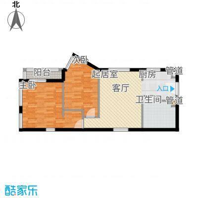中贸广场69.00㎡15号楼12/15户型2室1厅