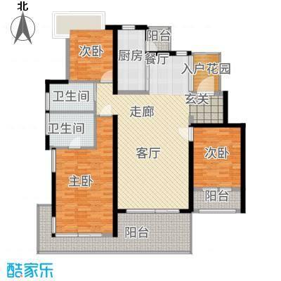 锦绣天下118.00㎡标准层B5户型3室2厅