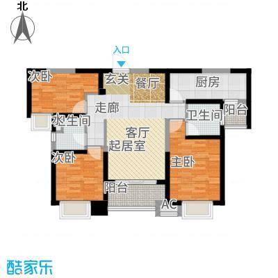 海伦国际114.00㎡33号楼E2户型2室2厅