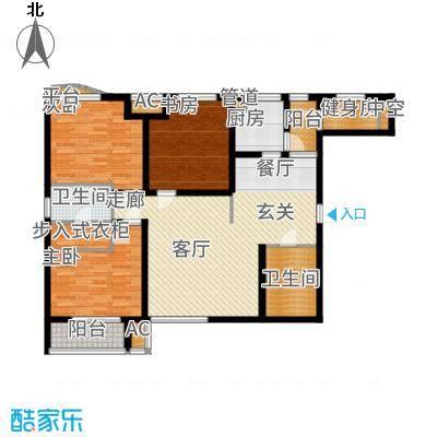 国宾中央区123.06㎡D1户型3室2厅