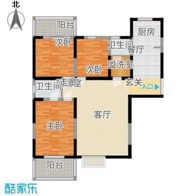 首府尚苑137.33㎡A1-1户型3室2厅