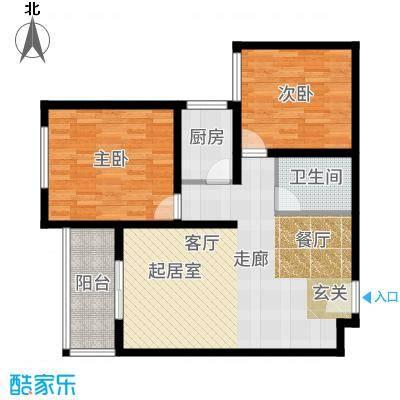 长乐坊82.55㎡高层户型2室2厅