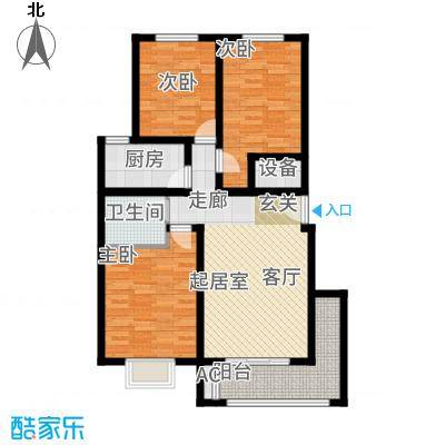 长乐坊89.11㎡小高层户型3室1厅