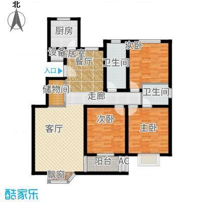 长乐坊118.77㎡高层户型3室2厅
