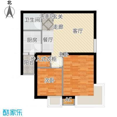 锦尚名城74.91㎡L户型2室2厅