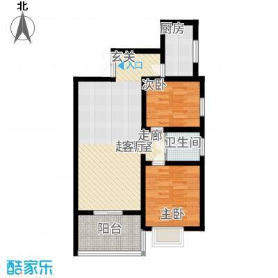 首府尚苑91.62㎡B1-4标准层户型2室2厅