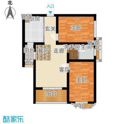 国宾中央区73.71㎡E3户型2室2厅