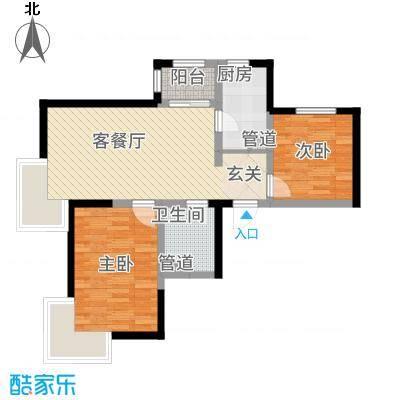 新梅江锦秀里高层标准层A-01户型