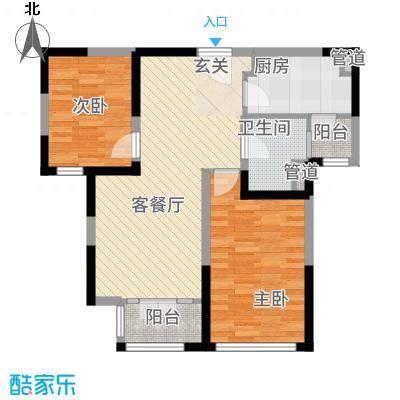 新梅江锦秀里高层标准层B-02户型