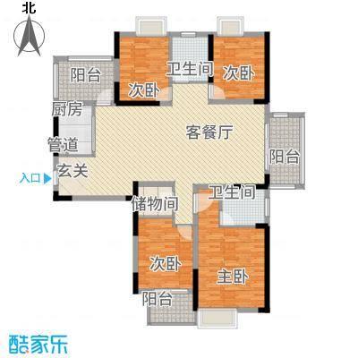 中大十里新城167.00㎡9、10号楼G1户型4室2厅2卫1厨