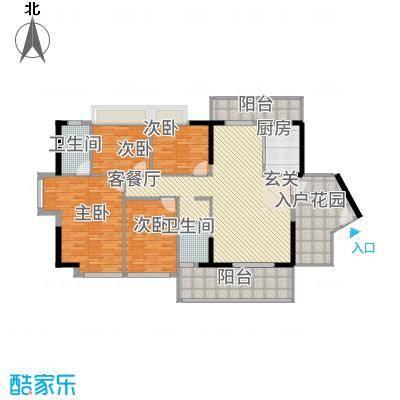 侨城水岸15.00㎡1栋02户型4室2厅2卫1厨