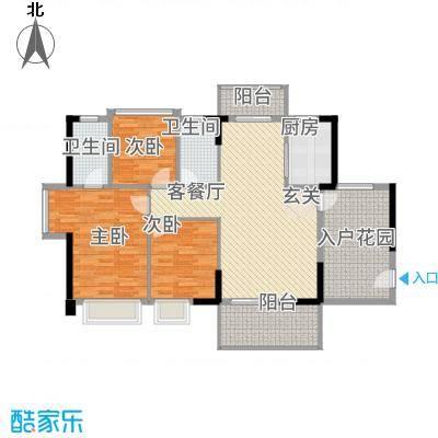 侨城水岸12.00㎡3栋01户型3室2厅2卫1厨