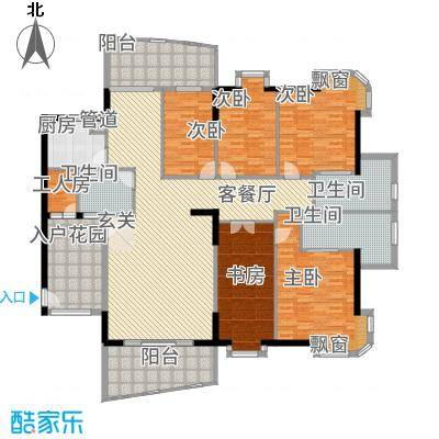 金裕碧水湾155.00㎡户型4室