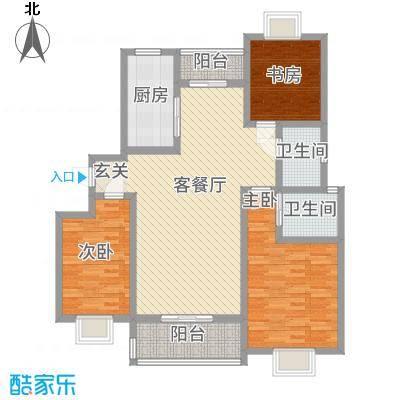 中铁汇苑户型3室